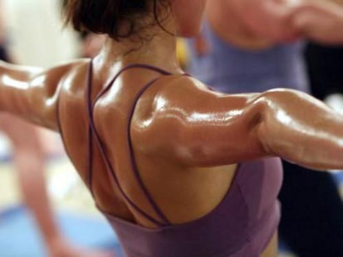 Jedna od metoda izazivanja znojenja - vježbanje.
