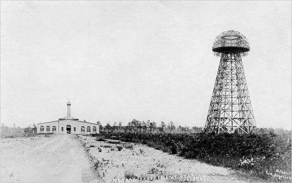 Wardenclyffe, Teslin toranj za bežični prijenos električne energije u Colorado Springsu.