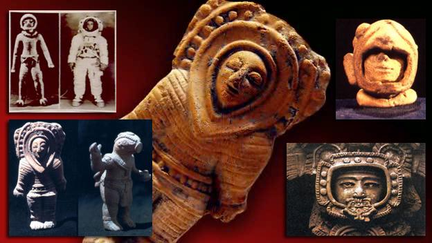 """Gotovo sve antičke kulture svijeta imaju prikaze bogova i polu-bogova koji su se spustili """"s nebesa"""", njihove prikaze jako podsjećaju na moderne astronaute i njihovu opremu."""