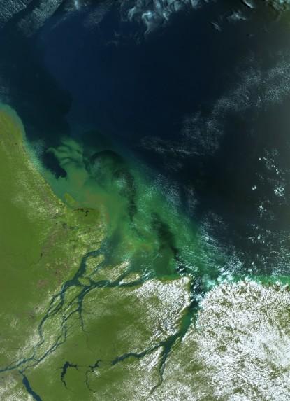 Na slici vidite rubove dva vira - crne rupe koji se stvaraju pored Brazila.