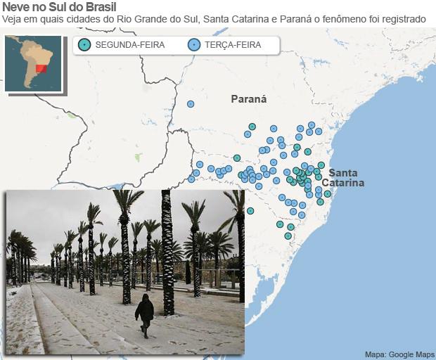 Snijeg u južnom Brazilu se nikako ne može pripisati globalnom zatopljenju.