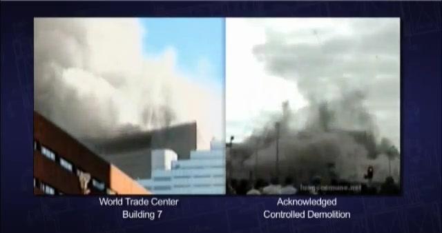 Usporedimo li pad WTC-a 7 i zgrade srušene kontroliranom eksplozijom, vidjet ćemo da su obije zgrade nestale bez otpora u nekoliko sekundi i to s potpuno vertikalnim padom.