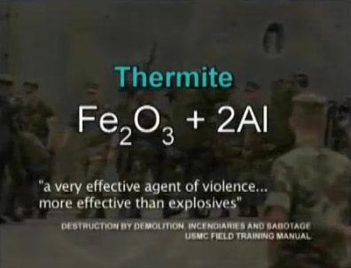 U ostacima WTC-a su pronađene granule Themrita, i to najmodernije generacije koja propada nano eksplozivima.
