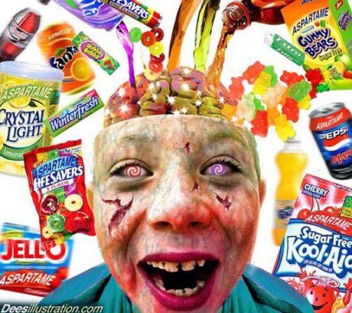 Aspartam je izuzetno neurotoksičan. Slika je vlasništvo Dess Illustration.com