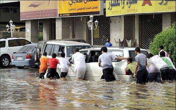 KIša u Saudijskoj Arabiji je iznimno rijetka, a poplave zvuče kao čudo.