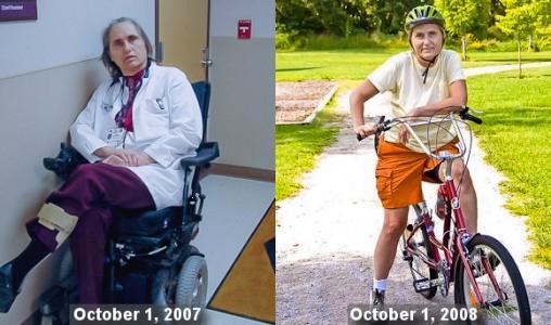 Dr. Terry Wahls koja je promjenom prehrane postigla veliko poboljšanje stanja svoje bolesti.