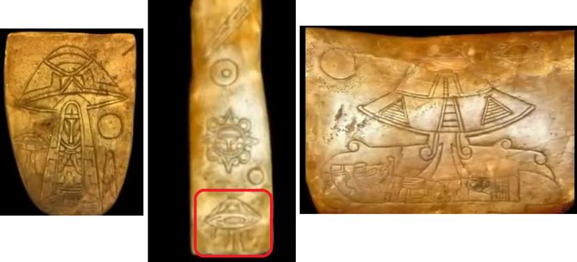 Brojni majanski artefakti na kojima se vide NLO-i i kontakst s vanzemaljcima.