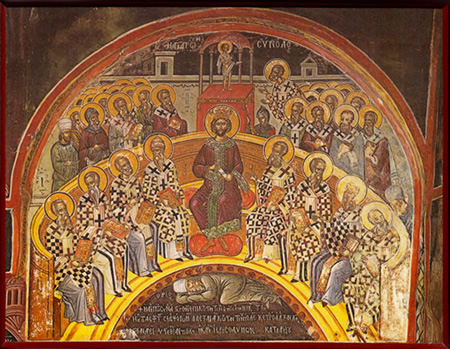 Prvi crkveni koncil je vođen od strane cara Konstantina, kojemu možemo zahvaliti za današnju Bibliju, crkveni ustroj i običaje.