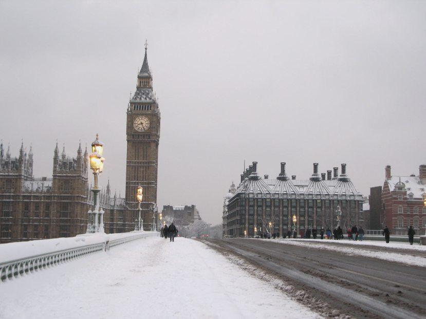 Na ledene i hladne zime će es etrebati naviknuti Londonci i ostatak Velike Britanije.