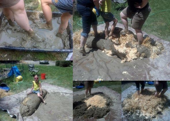 Nekada su cob miješali volovi svojim gaženjem, danas se to radi ljudskim nogama.