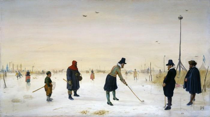 Na narudžbu bogatog mecene Hendrick Avercamp je morao prikazati malo ledeno doba kao zimsku idilu, pa ipak tijekom tog perioda Europom i sjevernom Amerikom je harala glad i bolseti.