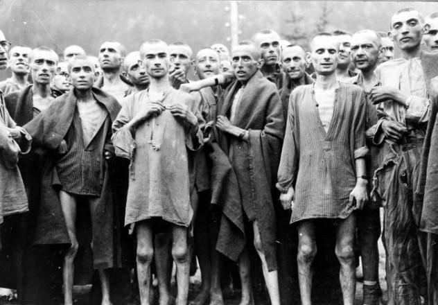 Logoraši u konc-logoru Mathausen Gusen za vrijeme nacističke Njemačke.