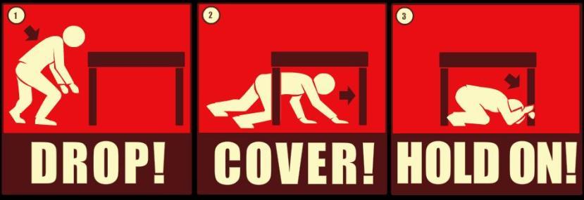 """""""Drop and Cover"""" se preporučao čak i za """"spašavanje"""" od nuklearnih eksplozija, no bojimo se ovakva reakcija ne bi pomogla u slučaju udara nebeskog lutalice o Zemlju."""