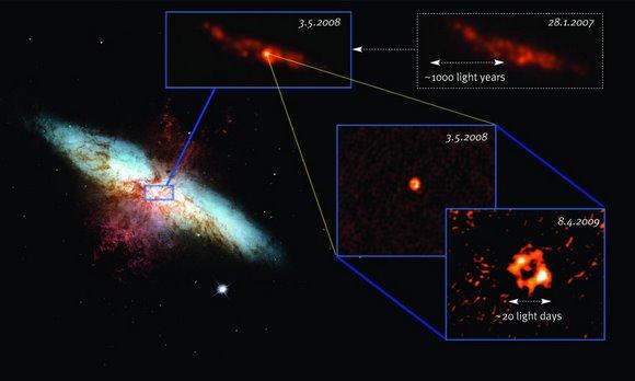 U M82 se vide i tragovi iz prošlih supernova.