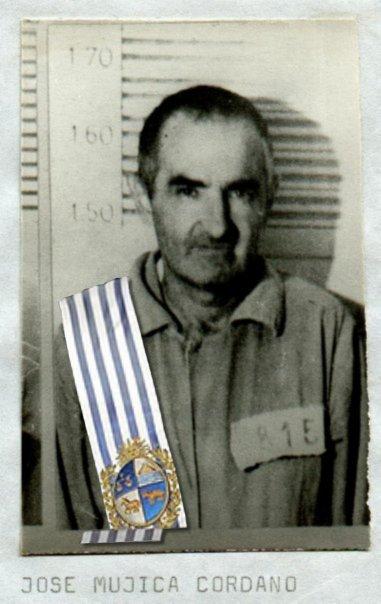 Jose Mujica tijekom zatvorskih dana. Predsjednička lenta je naknadno stavljena na sliku.