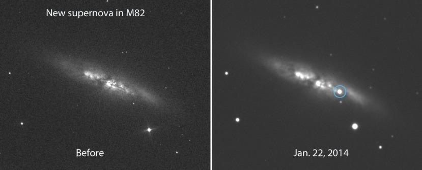 Još jedna fotografija supernove u M82.