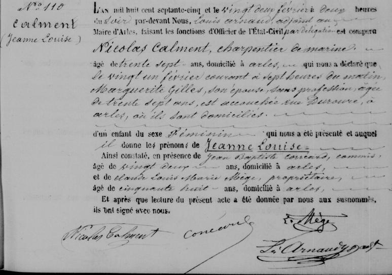 Rodni list Clementove pokazuje točan datum njena rođenja.