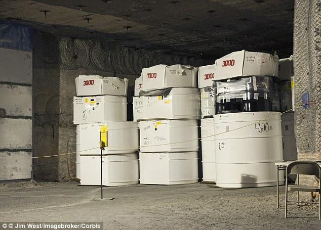 Tipična prostorija WIPP-a s radioaktivnim otpadom.