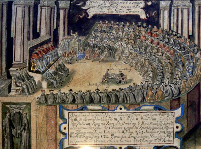 """Tridentski sabor je devetnaesti ekumenski sabor Katoličke Crkve. Održan je u razdoblju od 13. prosinca 1545. do 4. prosinca 1563. je omogućio """"rasplamskavanje"""" katoličkog zanosa i stvaranje dodatnih """"svetaca iz katakombi."""""""