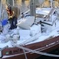 Brod u Floridi ispunjen snijegom