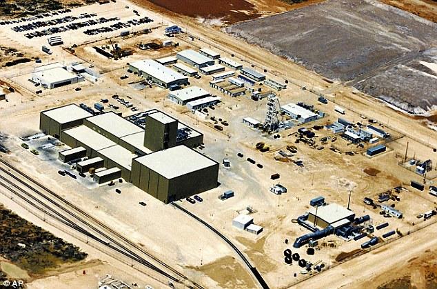 Pogled iz zraka na WIPP postrojenje u Novom Meksiku.