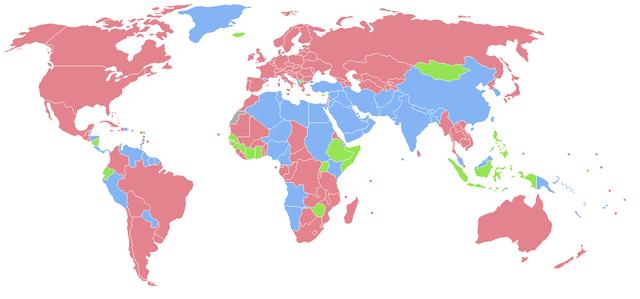 U zemljama označenima ružičastom bojom, žena je više. U zemljama označenima svijetlo plavom bojom rađa se više muškaraca.