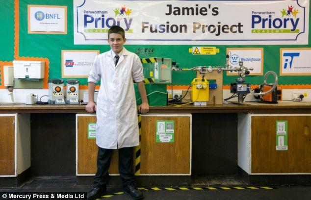 Jemijev projekt stvaranja fuzijskog školskog nuklearnog reaktora je postao svjetska senzacija.
