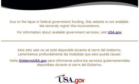 Krajem 2013. američka vlada je na nekoliko tjedana zatvorila sve vladine portale i portale vladinih agencija jer ih nije mogla plaćati.