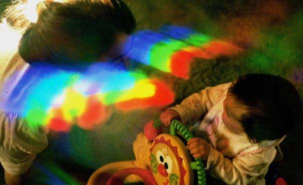 """Majčina aura snimljena PIP tehnikom za vrijeme """"slanja"""" ljubavi svome djetetu."""
