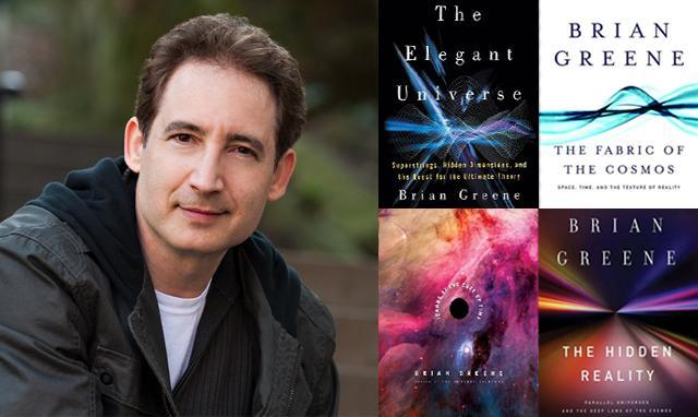 Dr. Brian Greene s naslovima svojih knjiga u kojima se otkrivaju područja matematike i fizike koja su do sada nalikovala znanstvenoj fantastici.
