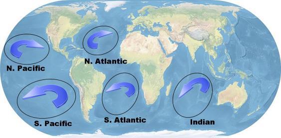 Najveća odlagališta plastičnoh smeća nalaze se u zonama zatišja vrtloga najvećih morskih struja, no velika količina plastike nalazi se i u polarnim ledenim kapama.