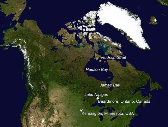 """Vikinška naselja iz takozvane """"Beadmore kulture"""" na području Kanade. Iako se o ovom lokacijama zna puno, artefakti iskopani u njima se sustavno uništavaju."""