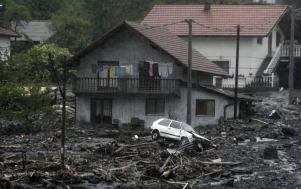 Šteta nastala nakon poplava u Topić Polju u blizini Zenice.