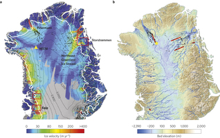 Područje s podzemnim ledenim svijetom Grenlanda.