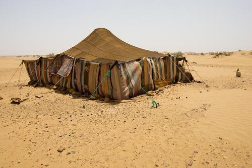 Pleteni beduinski šator.