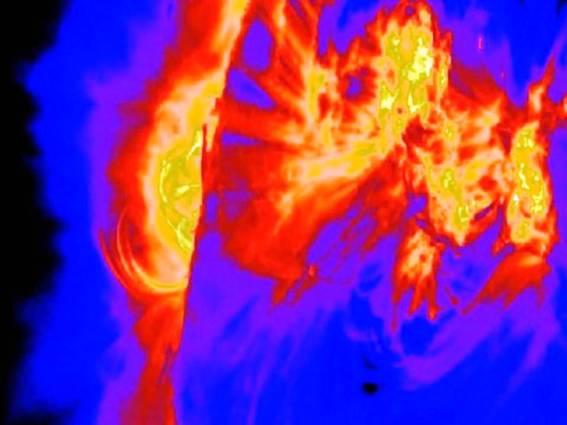 Solarne baklje izbacuju veliku količinu radijacije u svemir, ako se Zemlja nalazi na putu te radijacije, moguće su velike telekomunikacijske i GPS smetnje.