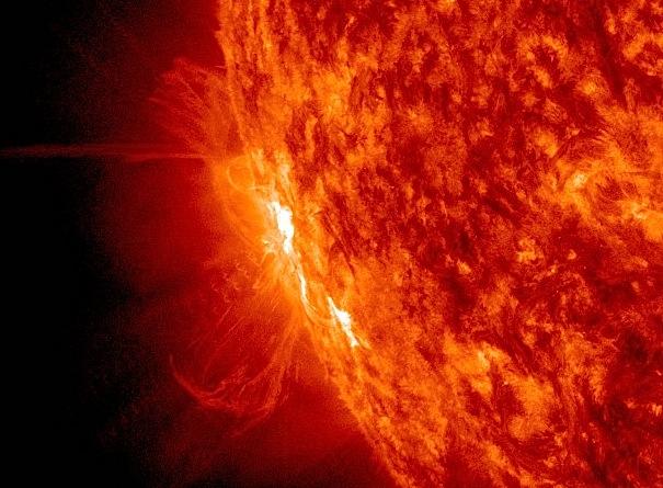 Trenutak stvaranja druge solarne baklje.