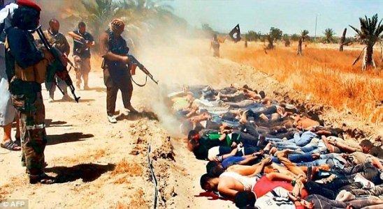 Džihadisti ISIS-a ubijaju iračke vojnike pred kamerama. Svaki put kada priroda poludi, patokracija smisli još jedan novi rat.