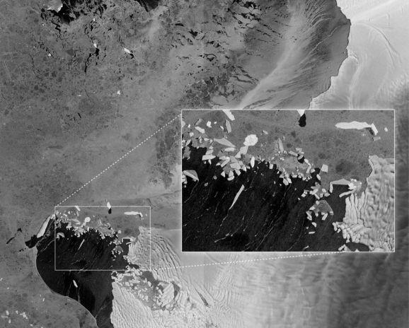 Prvi dijelovi ledenjaka Thwaites snimljeni u trenutku lomljenja zbog vulkanske aktivnosti, neki dijelovi su duži od 300 kilometara.