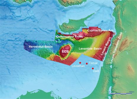 Bazen Levanta, još jedna geo-politička vruća točka, na koju je Izrael bacio oko zbog velikih količina zemnog plina i nafte.
