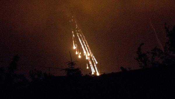 Projektili s bijelim fosforom padaju na okolicu Slavyanska.