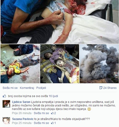 Zašto se napada Matrix World za objavlivanje groznih slika iz Gaze, zar se ne bi trebali napadati zločinci za pokolj koji su učinili nad nevinim žrtvama?