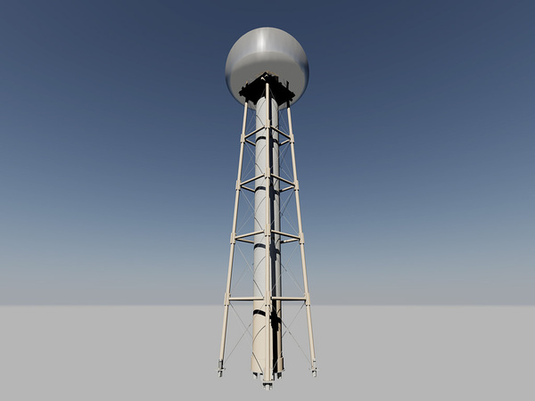 Ruski prototip Telsinog tornja za bežični prijenos energije, napravljen isključivo Teskinim patentima.