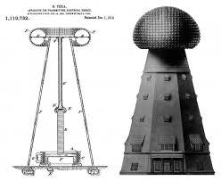 Shematika Teslinog tornja za bežični prijenos energije u Wardenclyffu.