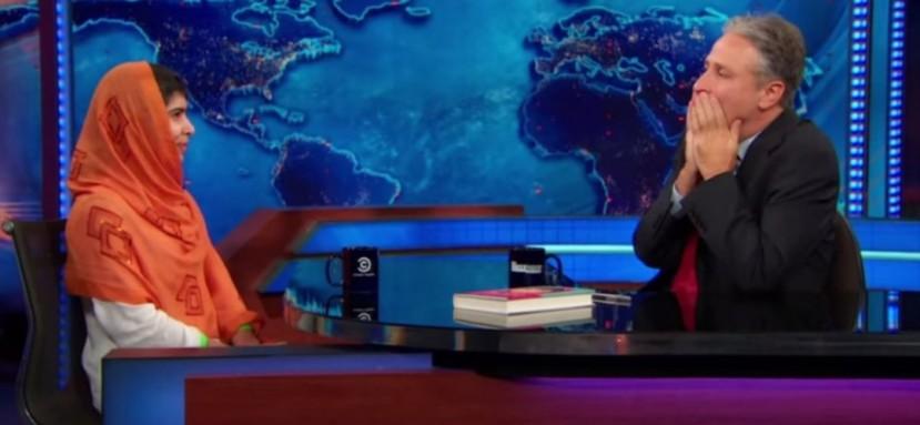 Malala je ostavila Jona Stewarda bez teksta.