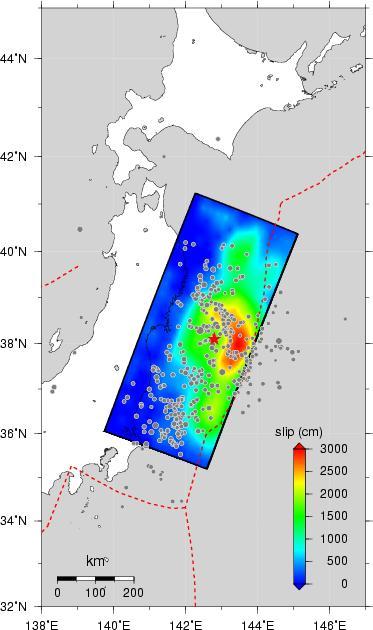 Detaljna mapa Tohokua nastalog za vrijeme katastrofalnog tsunamija (cunamija) u Japanu.