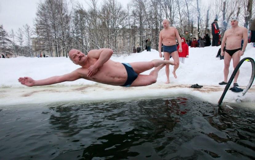 Krioterapija na Ruski način. No nije potrebno da se kupate sa santama leda kako biste pojačali imunološki sustav.