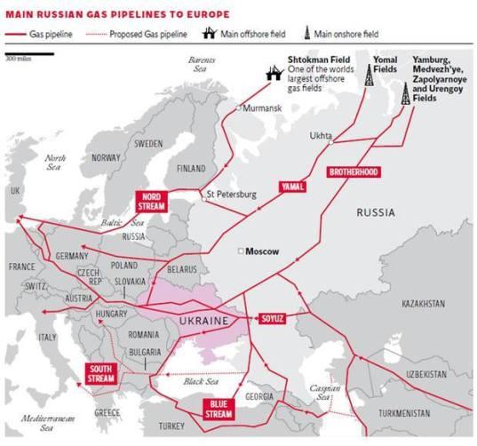 Europa je potpuno ovisna od energentima iz Rusije, ponajviše o plinu.