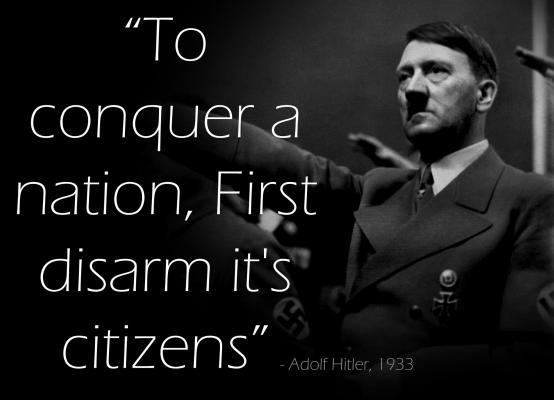 """""""Da biste pobijedili naciju, prvo joj razoružajte građane."""""""