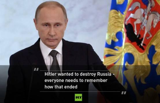 Hitler je želio uništiti Rusiju, svi znaju kako je to završilo.
